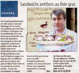 Sandwichs antibois au foie gras