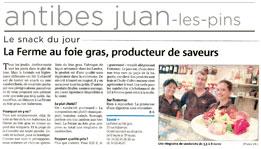 Article de presse Nice Matin (24/07/2010)