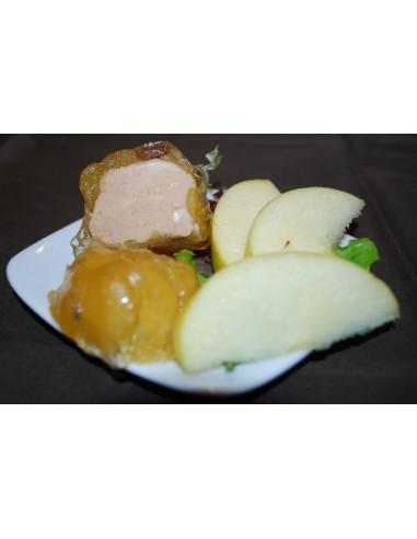 1 Pomme fourrée au foie gras