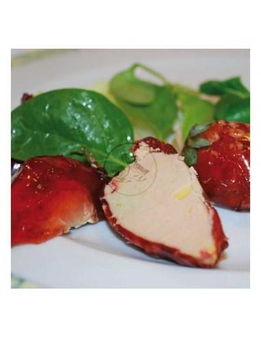 2 fraises fourrées au foie gras